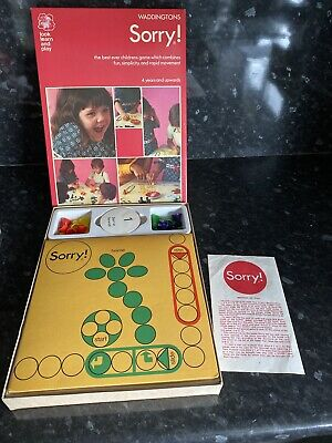 Waddingtons Sorry Board Game 1973 Good Used Condition  • 17.99£