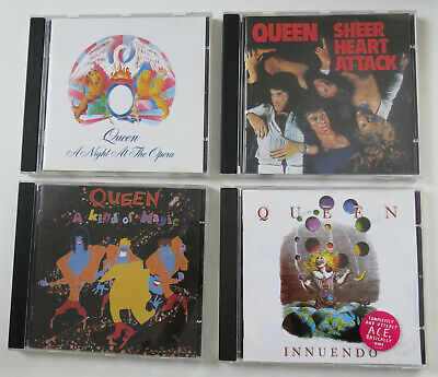 Queen CD Bundle  Night At The Opera, Sheer Heart Attack, Innuendo, Kind Of Magic • 12£