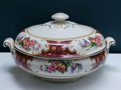 Art Deco Sampson Bridgwood & Son Porcelain Floral Lidded Tureen Made In England • 18.99£