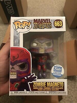 Funko Pop Zombie Magneto Figure Funko Shop Exclusive #663 In Hand • 0.01£
