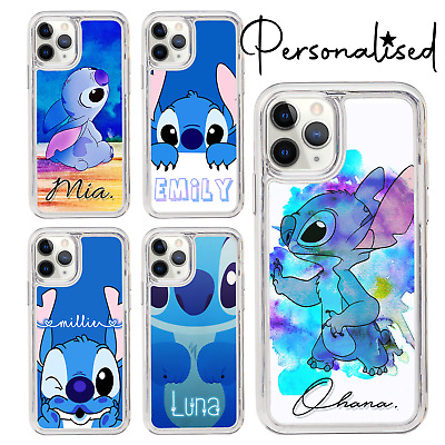 Personalised Lilo Stitch NameHard Case For IPhone 5 6 7 8 X XR SE 11 12 Mini Pro • 6.99£
