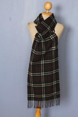 BURBERRY Scarf Grey Check Cashmere Authentic • 5.50£