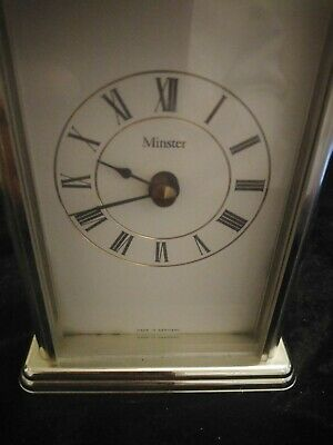 Vintage Minster Quartz Brass Carriage Clock Made In Germany Working  • 3.50£