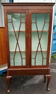 GEORGIAN MAHOGANY ASTRAGAL GLAZED DISPLAY CABINET 18th Century • 49£