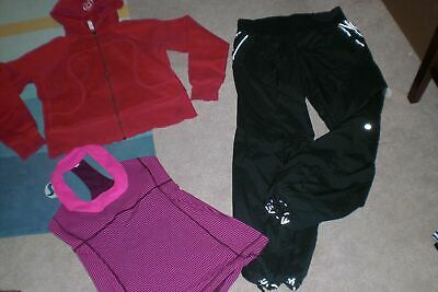 $ CDN69 • Buy  Lot Of Rare Lululemon Lined Pants, Hoodie And Tank Sz 10