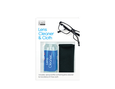 Eye Glasses Optical Spectacle Lens Cleaner Cloth Set Cleaning Solution Spray • 2.45£