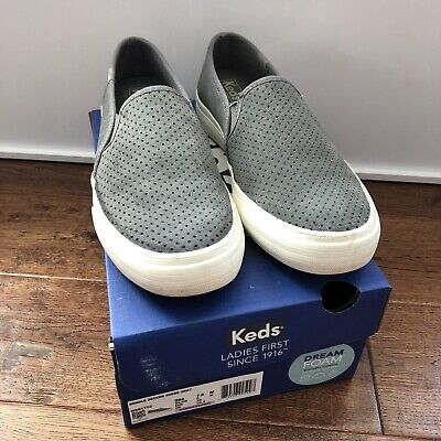 $ CDN13.15 • Buy Keds Women Double Decker Suede Gray Grey Perforated Shoes Size 7.5 Used Slip On