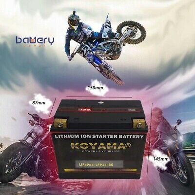 AU159 • Buy Lfp14-bs Lithium Motorcycle Battery Ytx14-bs, Rtx14-bs, Yt14ba-4. 380cca