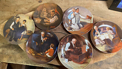 $ CDN54.50 • Buy Lot 6 Vintage Norman Rockwell Knowles Plates Great Condition!!