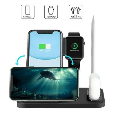 AU27.96 • Buy AU 4in1 Qi Fast Wireless Charger Dock Pad Stand For IWatch IPhone 12 Pro 11 XS 8