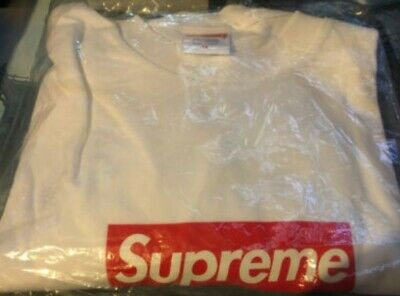 $ CDN236.75 • Buy Supreme Box Logo Long Sleeve White (In Hand) Size M. Condition Is  New With Tags
