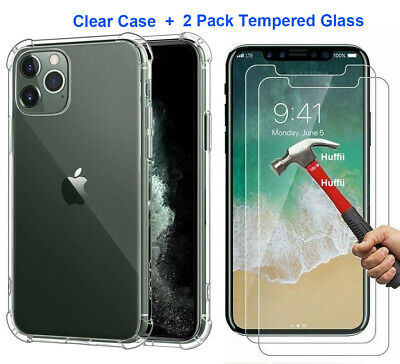 AU12.99 • Buy Case +2 Screen Protector For IPhone 12 11 Pro Max XR 7 8 Plus X XS Cover Clear