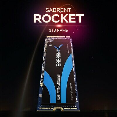 Brand New Sabrent 1 TB,Internal (SBROCKET1TB) M.2 Solid State Drive • 89£