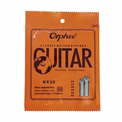 $ CDN15.72 • Buy Guitar Strings 6pcs Full Set Replacement Nylon Core Jacketed Wire Hard Tension