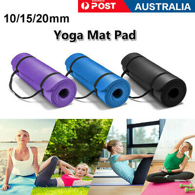 AU23.35 • Buy Yoga Mat Pilates Gym Exercise Carry Strap Large Comfy 10-20mm Thick NBR Non Slip