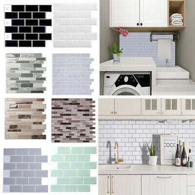 Oilproof Kitchen Tile Decal Bathroom Mosaic Wall Sticker Self-adhesive Home Deco • 3.95£