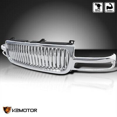 $215.38 • Buy For 2000-2006 GMC Yukon XL Sierra Chrome Front Hood Vertical Grill Grille 1PC