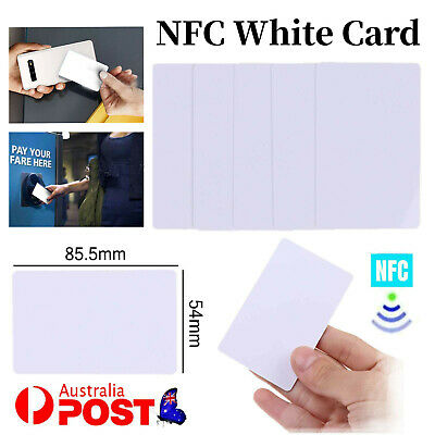 AU7.85 • Buy 10x NTAG215 NFC White Pvc Card Tag For TagMo Forum Switch Type2 Tags Chip