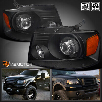 $122.38 • Buy For 2004-2008 F150 06-08 Lincoln Mark LT Black Halo Projector Headlights L+R