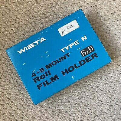 Wista 6x9cm Film Back For 4x5  Large Format With Box • 150£