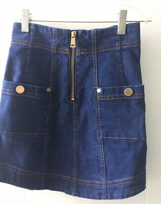 AU49.99 • Buy Alice Mccall Denim Skirt Zip Up Blue Size AUS 4