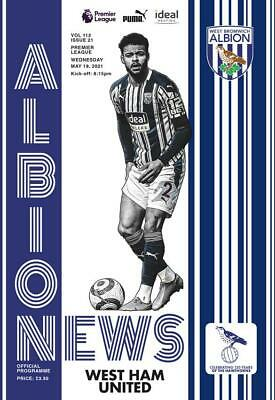 * 2020/21 - West Brom Home Programmes - Choose From List * • 5.99£
