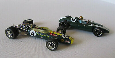 1/43 DIECAST SALVAGE - LOTUS 49 Plus COOPER T51 By QUARTZO - SPARES OR REPAIR • 4.99£