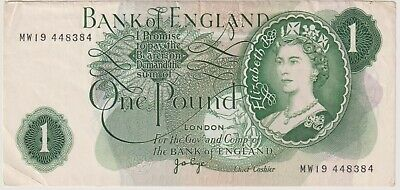 Page 1 Pound Issued 1970 Last Run MW19 REPLACEMENT Note B323 VF • 45£