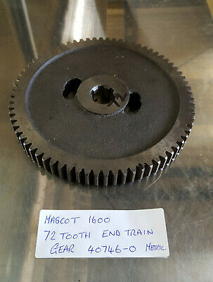 £120 • Buy Colchester Mascot 1600 72 Tooth End Train Change Gear 40746-0 For Metric Set Up.