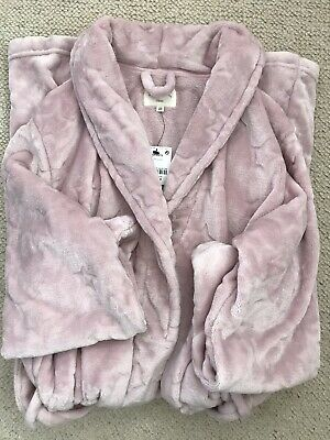 New Women's Long  Soft Pink Dressing Gown From Next Size Large • 25£