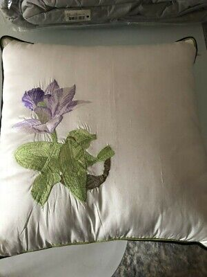 AU44.95 • Buy Yves Delorme TIJUCA Encre SILK Cushion Pillow With Insert New France RRP$149