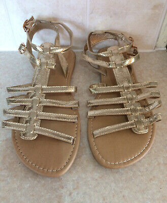 Sole Diva Gold Gladiator Style Flat Sandals - Size 8E (Wide Fit) New No Tags • 4£