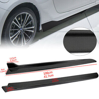 $32 • Buy 2PCS Universal 41.7  Bumper Spoiler Side Skirt Extension Splitters Carbon Look