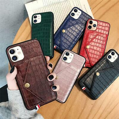 AU14.99 • Buy Leather Flip Wallet Card Holder Case IPhone 11 Pro Max Samsung S20 A51 A71 A11