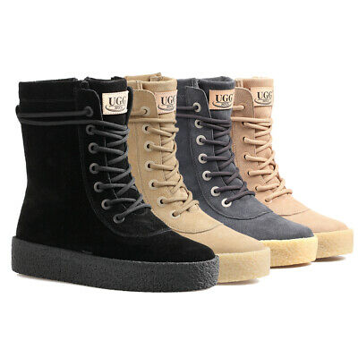 AU64.99 • Buy Women UGG Boots Water Resistant Australia Sheepskin High Lace-Up Ladies Sneaker
