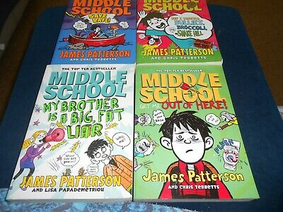 AU32 • Buy 4 X Bulk Lot James Patterson Middle School Books Exc Cond FREE POST
