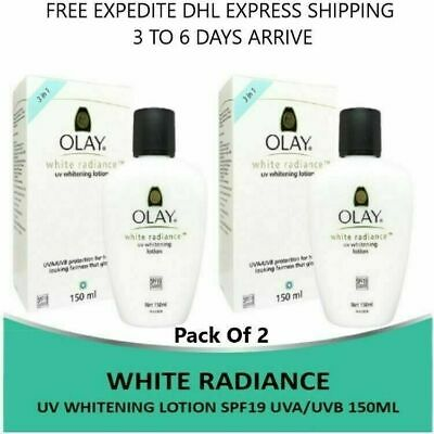 AU56.19 • Buy 2X Olay White Radiance UV Whitening Lotion SPF19 UVA/UVB 150ml For Healthy Skin