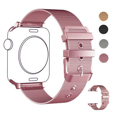 AU18.99 • Buy Milanese Stainless Steel Bracelet Strap Band For Apple Watch Series 6 5 4 3 SE 2