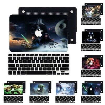 $15.63 • Buy Star Wars Rubberized Hard Cut Out Case +Keyboard Cover For New Macbook Pro Air