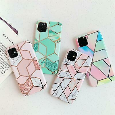 AU14.99 • Buy IPhone 12 Pro Max Samsung S20 A10 A51 A71 5G Soft Pastel Geometric Marble Case