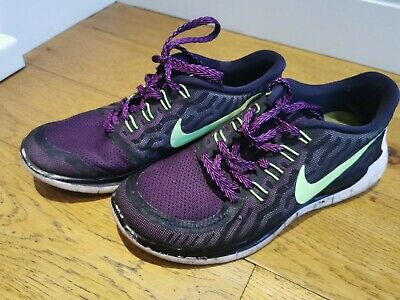 Nike Flex Run Size 5.5 EUR 38.5 Trainers Gym Yoga Running Shoes FREE DELIVERY • 7.50£