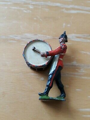 Vintage Britains Toy Soldier With Bass Drum - DEB • 2.95£