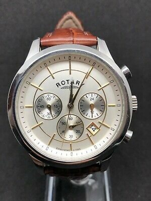 Rotary Gents Chrono Sports Watch GS03631/06 Brand New Brown Leather Strap • 27£