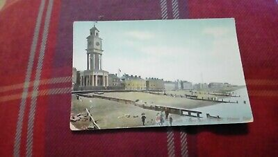 Herne Bay. Clock Tower And Parade.  Old Vintage Postcard. Postmarked 1909 • 3£