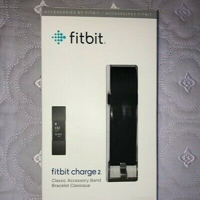 AU29.95 • Buy GENUINE Fitbit Charge 2 Replacement Classic Accessory Band - Black / Large
