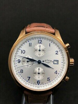 Rotary Gents Classy Chronograph Watch GS03083/52 With Brown Leather Strap • 12.50£