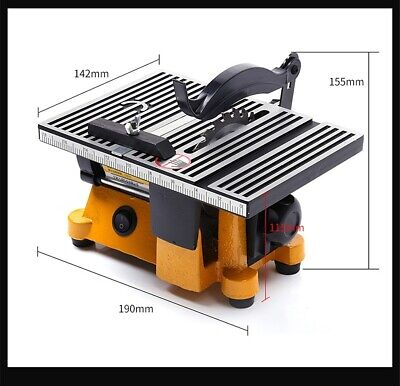 4 Inch Portable Multifunction Mini Table Saw For Wood Aluminium Cutting Machine • 72.08£