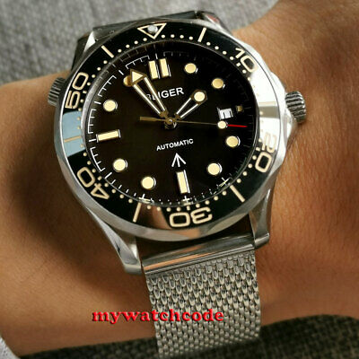 $ CDN108.01 • Buy 41mm Bliger Black Dial Beige Marks Sapphire Glass NH35A Automatic Mens Watch