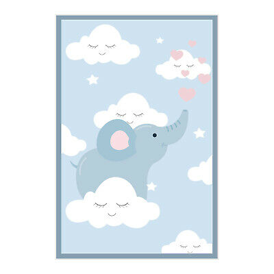 £11.57 • Buy Elephant Clouds Printed Baby Play Mat Kid Room Leather Padded Non-Slip CNK596