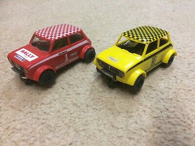 A Pair Of Scalextric C122 Mini 1275GT Rally Cars • 10.50£
